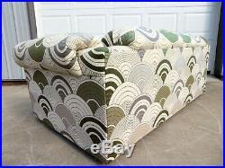 VTG Mid Century MOD LOVESEAT SOFA Retro Couch SPACE AGE Panton Heels FABRIC ART
