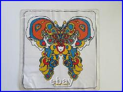VTG PETER MAX 70's Inflatable Plastic RORSCHACH BUTTERFLY Pillow
