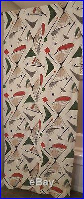 VTG boomerang atomic curtains novelty rare 1950s mid century eames retro vintage