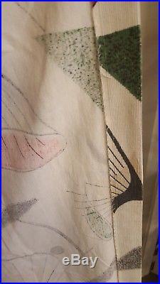 VTG boomerang atomic curtains novelty rare 1950s mid century eames retro vintage