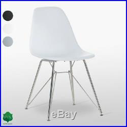 Velari Dining Chair White, Grey, Black Retro Lounge Eiffel Dining Room UK