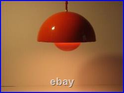 Verner Panton Flowerpot Pendant Light for Louis Poulsen Denmark Panton Era