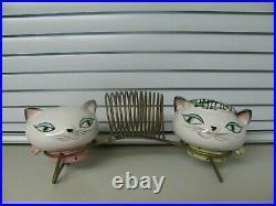Vintage 1950's Holt Cozy Kittens Cat Napkin Holder Salt Pepper Shakers 1958