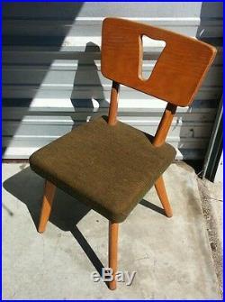 Vintage 1950's Mid Century Modern Plywood Chair Retro Atomic Eames Era Space Age