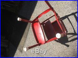 Vintage 1950s Kitchen Step Stool Retro Mid Century Modern Cosco Bar Chair red