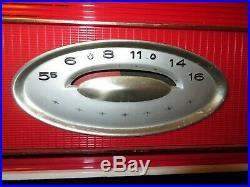 Vintage 1957 Mid Century Modern Retro Jetsons RCA Victor Tube Radio Red & white