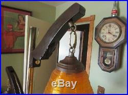 Vintage 1960's Mid Century Modern Spaghetti Lucite Bee Hive Pole Lamp Retro RARE