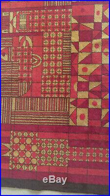 Vintage 1960's retro wall tapestry rug carpet, Mid Century design, Bakos