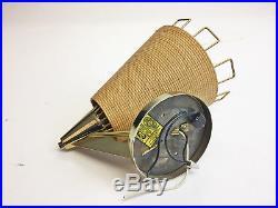 Vintage 60s MID CENTURY MODERN CONE LAMP gold beige sconce retro danish light