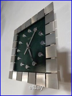 Vintage 70s Wall Clock Kienzle West Germany Space Age