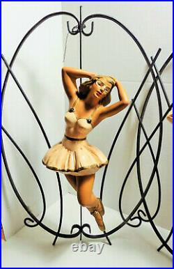 Vintage Alexander Backer ABCO Dancers Ballerinas Mid Century Chalkware