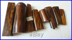 Vintage American Bakelite Catalin assorted lot Brown marbled 255 Gram
