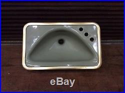 Vintage American Standard MID Century Retro Green Counter Sink-rare Model