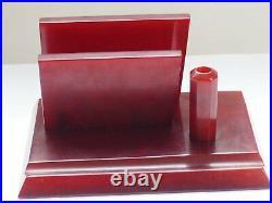 Vintage Antique Bakelite Catalin Table Desk Stand Letters, Paper, Pen, 798 G Damari