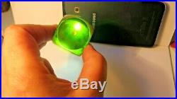 Vintage Art Deco Dark Green Bakelite Green Yellow Inside Dice 47.9 Grams