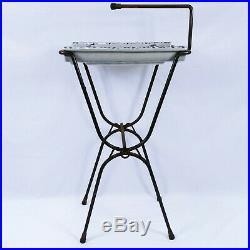 Vintage Ashtray Stand Mid Century Modern Retro Ceramic Atomic Floor Pedistal