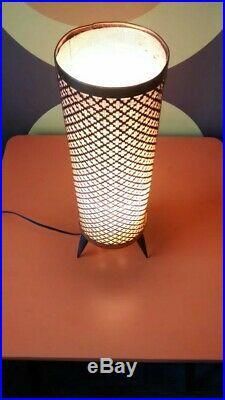 Vintage Atomic Rocket Lamp Copper 60s/70s Retro Mid Century Modern Table Lamp