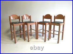 Vintage BOHO Lowenstein/OGGO Bar Stools Kitchen Pink MidCentury Wood Teal Danish