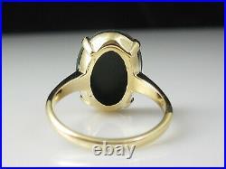 Vintage Bloodstone Ring 14K Yellow Gold BADEN & FOSS Mid Century Estate Retro