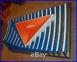 Vintage Bowling AMF magic triangle light up sign bowl retro Mid Century light up