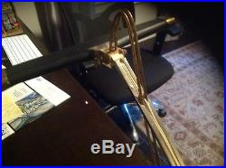 Vintage- CANNON-60s Brass Harp Piano Desk Lamp Retro Lighting Mid Century Modern