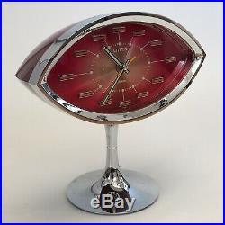 Vintage CITIZEN PEDESTAL eye CLOCK Space Age Retro Mid Century George Nelson mcm