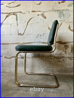 Vintage Cantilever Baughman Dining Mid Century Modern Brass Gold Z Dining Chair