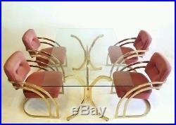 Vintage Cantilever Baughman Dining Mid Century Modern Table Brass Gold Z Regency