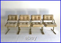 Vintage Cantilever Baughman Dining MidCentury Modern Z Chair Brass Jerry Johnson