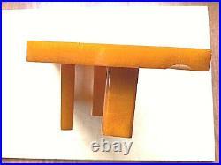 Vintage Catalin Butterscotch Bakelite Desk Top Set Pen Holder