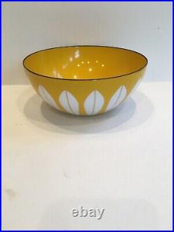 Vintage Catherineholm Enamel Lotus Bowl Yellow Small 5.5 Norway MCM