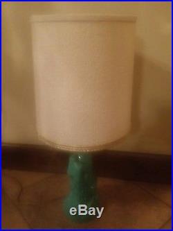 Vintage Ceramic pottery table desk Lamp Mid Century Modern Retro Horse & shade