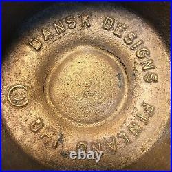 Vintage Danish Modern Dansk Jens Quistgaard Brass Hurricane Candle Holders MCM