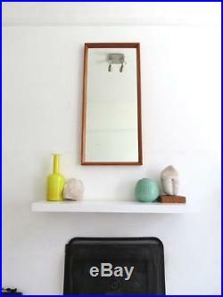 Vintage Danish Teak Mirror Modernist Mid Century Large Mirror