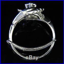 Vintage Diamond Engagement Ring14k White Gold Promise Retro Mid Century Estate