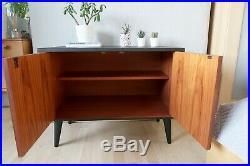 Vintage Drinks Cabinet, G Plan Mid Century Cupboard, Vinyl Record Storage, Black