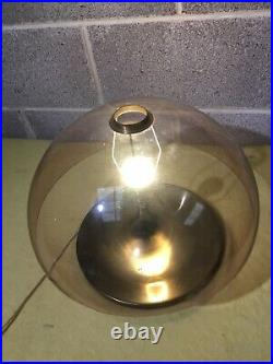 Vintage Durlston Designs Brass Lamp Mushroom UFO Retro Mid Century 1960s 70s