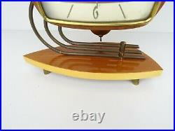 Vintage Dutch Kortana Mantel Shelf 8 day Mid Century Retro Clock (Eames Era)