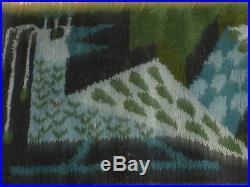 Vintage Ege Rya Rug Wall Hanging