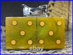 Vintage Evans Bakelite Polka Dot Dominoes Catalin Table Lighter