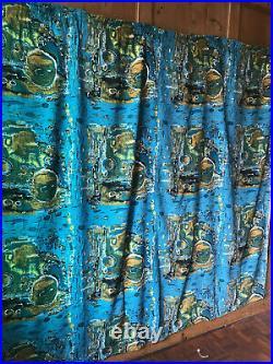 Vintage Fabric Mid-Century 1950s Retro Curtain abstract MOYGASHEL 1960s