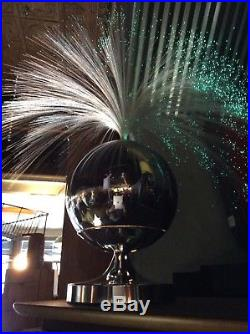 Vintage Fantasia Color Rotating Fiber Optic Lamp Mid Century Modern Retro