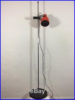 Vintage Floor Lamp Made in Sweden Mid Century Light Retro Orange Standing Lamp