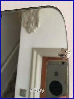 Vintage Frameless Hall Mirror Vertical Grey Mid Century Retro 1960s 52x27cm m128