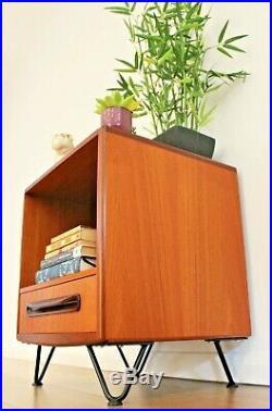 Vintage G Plan Fresco Bedside Table Cabinet Scandi Teak Mid century Hairpin Legs
