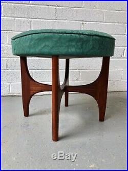 Vintage G Plan Fresco Teak Stool Footstool. Danish Kofod Larsen Retro Mid Century
