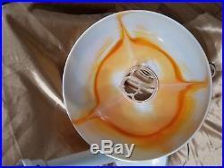 Vintage Gilbert Softlite orange Swirl Mushroom Retro Table Lamp Mid Century 70S