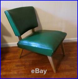 Vintage Green Slipper Chair. 1952. MID Century Modern. Viking Art Line. Retro