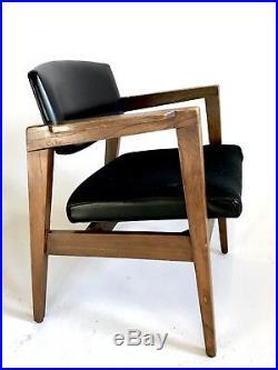 Vintage Gunlocke MidCentury Danish Clam Chair Office Cantilever Atomic Dining
