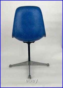 Vintage Herman Miller, Eames Shell Chair, M-CM Fiberglass, Swivel Base Blue